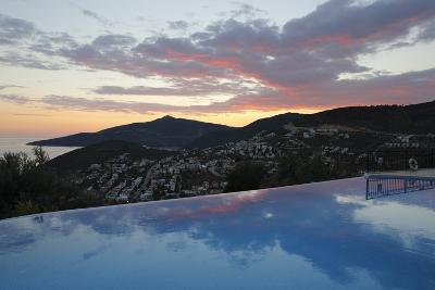 Infinity Pool at Sunset, Mediteran Hotel, Kalkan-Stuart Black-Photographic Print