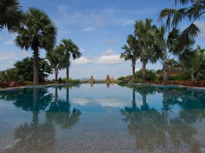 Infinity pool of Aureum Palace Hotel, Bagan, Mandalay Region, Myanmar--Photographic Print
