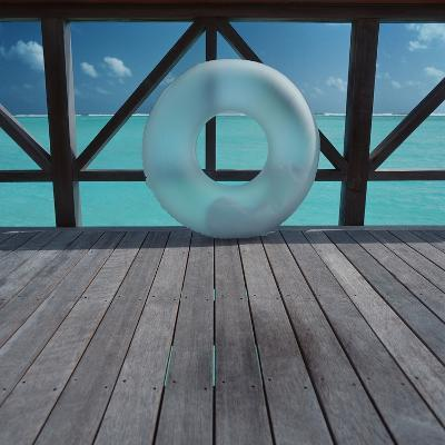 Inflatable rubber ring--Photographic Print
