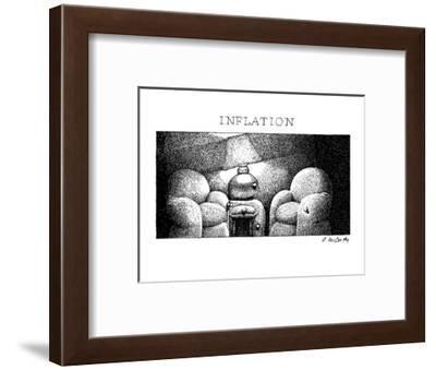 Inflation - New Yorker Cartoon-Ann McCarthy-Framed Premium Giclee Print