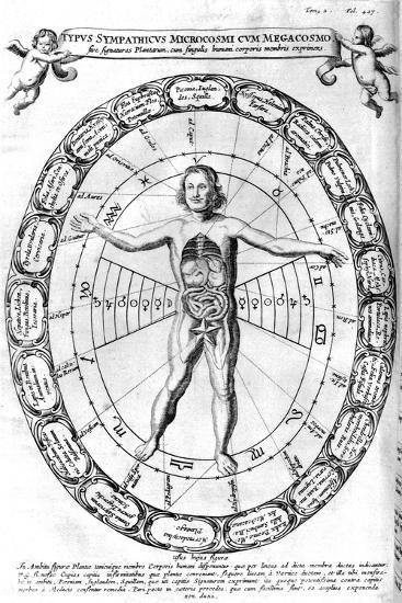 Influence of the Universe, the Macrocosm, on Man, the Microcosm, 1678--Giclee Print
