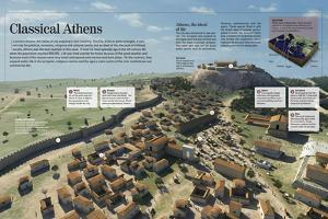 Infographic About Athens, Political and Religious Centre of Greece in the Ancient Period