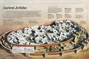 Infographic About the Prehistoric City of Jericho (9000 BC) on the West Bank