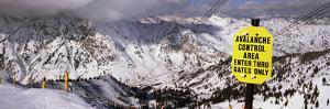 Information Board in a Ski Resort, Snowbird Ski Resort, Utah, USA