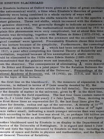 Information on Einstein's blackboard, 1931-Werner Forman-Photographic Print