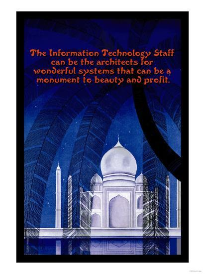 Information Technology--Art Print