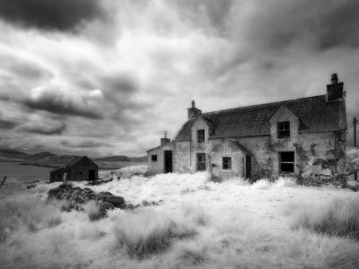 Infrared Image of a Derelict Farmhouse Near Arivruach, Isle of Lewis, Hebrides, Scotland, UK-Nadia Isakova-Photographic Print