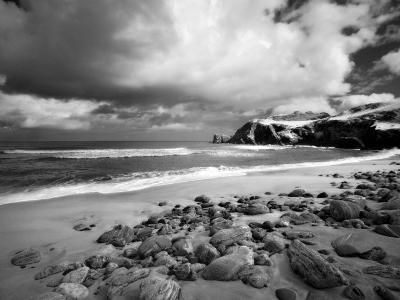 Infrared Image of Dalmore Beach, Isle of Lewis, Hebrides, Scotland, UK-Nadia Isakova-Photographic Print