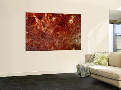 Infrared Image of the Center of the Milky Way Galaxy--Wall Mural