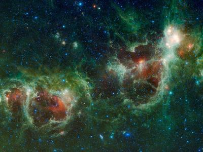 Infrared Mosaic of the Heart And Soul Nebulae in the Constellation Cassiopeia-Stocktrek Images-Photographic Print