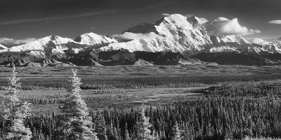 Infrared Panorama of Denali and the Alaska Range Taken from Near the Wonder Lake Campground-Design Pics Inc-Photographic Print