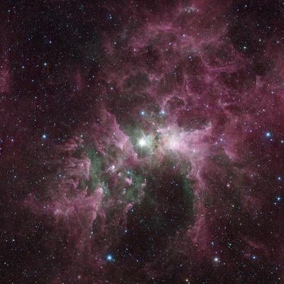Infrared View of the Carina Nebula--Photographic Print