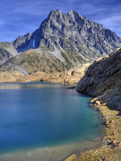 Ingalls Lake and Mt. Stuart, Alpine Lakes Wilderness, Washington, Usa-Jamie & Judy Wild-Photographic Print
