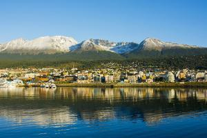 Argentina. Tierra Del Fuego. Ushuaia. Sunrise over the Town by Inger Hogstrom