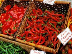 Chilli Peppers, Ferry Building Farmer's Market, San Francisco, California, USA by Inger Hogstrom