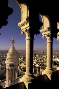 FRANCE, Paris.  View from Sacre-Coeur de Basilica through arches by Inger Hogstrom