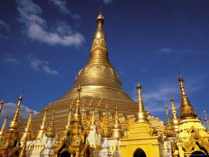 Golden Stupa of Shwedagon Pagoda, Yangon, Myanmar by Inger Hogstrom
