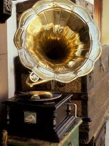 Gramophone, Bazaar Antique Shop, San Miguel de Allende, Mexico by Inger Hogstrom