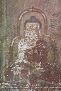 Myanmar. Bagan. Htilominlo Temple. Mural of the Buddha by Inger Hogstrom