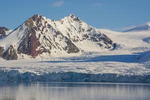 Norway. Svalbard. Hornsund. Mountains Surrounding the Fjord by Inger Hogstrom