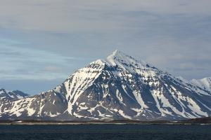 Norway. Svalbard. Spitsbergen. Forlandsundet. Snowy Mountains by Inger Hogstrom