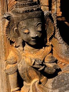 Stupa Details, Shwe Inn Thein, Indein, Inle Lake, Shan State, Bagan, Myanmar by Inger Hogstrom