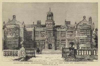 Ingestre Hall, Staffordshire, Seat of the Earl of Shrewsbury--Giclee Print