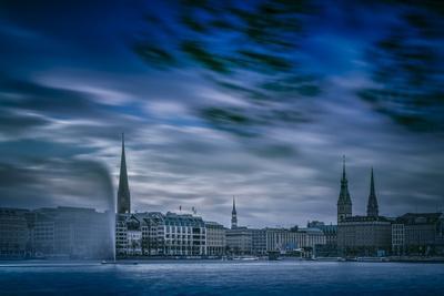 Germany, Hamburg, City Centre, Alster (River), Binnenalster (Inner Altster Lake)