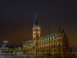 Germany, Hamburg, City Centre, Rathausmarkt, City Hall by Ingo Boelter