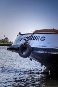 Germany, Hamburg, Elbe, Harbor, Barge by Ingo Boelter