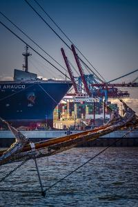 Germany, Hamburg, Elbe, Harbour, St. Pauli, Fish Market, Container Terminal, Great Place by Ingo Boelter