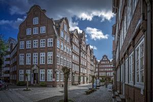 Germany, Hamburg, Gangeviertel, Half-Timbered Houses by Ingo Boelter