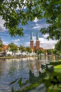 Germany, Schleswig - Holstein, LŸbeck (City), Old Town, Cathedral, Trave (River) by Ingo Boelter