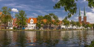 Germany, Schleswig - Holstein, LŸbeck (City), Old Town, Trave (River) by Ingo Boelter