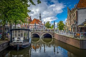 The Netherlands, Alkmaar, Church, Church Steeple, Canal by Ingo Boelter