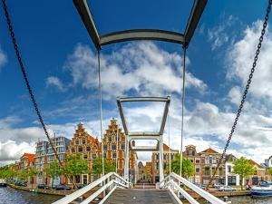 The Netherlands, Haarlem, Canal, Bridge, Drawbridge by Ingo Boelter