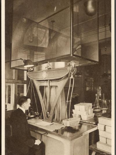 Ingots of Silver are Weighed in the Pyx Office Checking That They are the Correct Weight--Photographic Print