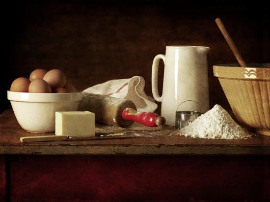 Ingredients and Utensils for Baking-Steve Lupton-Photographic Print