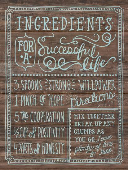 Ingredients For Life I-Mary Urban-Art Print