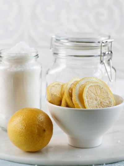 Ingredients for Salt-Pickled Lemons-Danya Weiner-Photographic Print