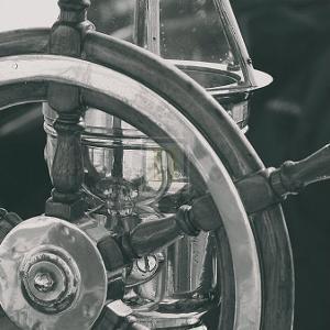 Ship's Wheel by Ingrid Abery