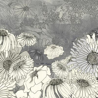 Flowers on Grey I