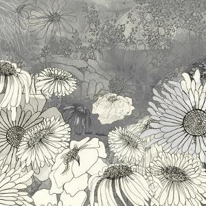 Flowers on Grey I by Ingrid Blixt