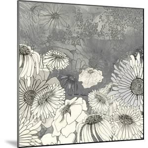 Flowers on Grey I by Ingrid Blixt