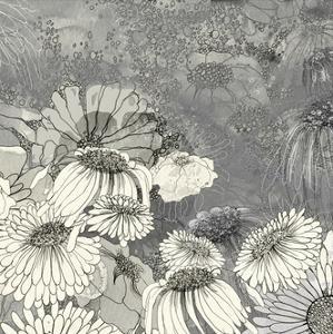 Flowers on Grey II by Ingrid Blixt