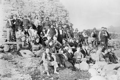 Inhabitants of Achill Island, County Mayo, Ireland, 1890-Robert French-Giclee Print