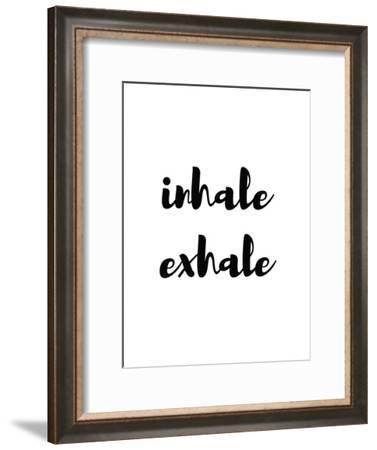 Inhale Exhale-Pop Monica-Framed Art Print