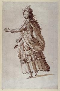 A Lady as a Naiad by Inigo Jones