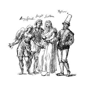 Figures Designed by Inigo Jones for the Masque of the Fortune Isles, 17th Century by Inigo Jones