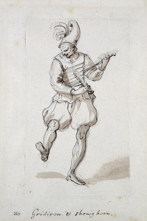 Man with Gridiron and Shoe Horn